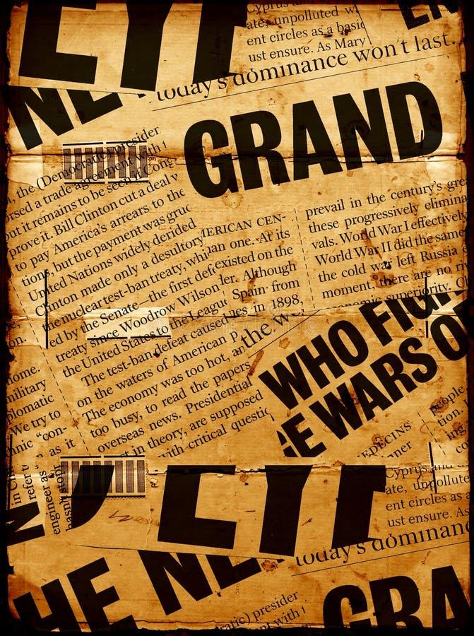 paper text för nyheterna arkivbild