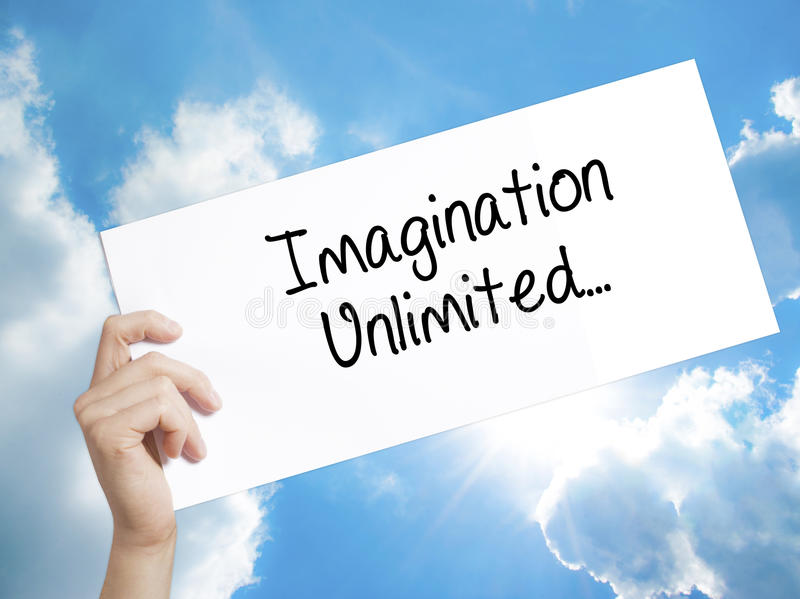 Paper with text Imagination Unlimited stock photos