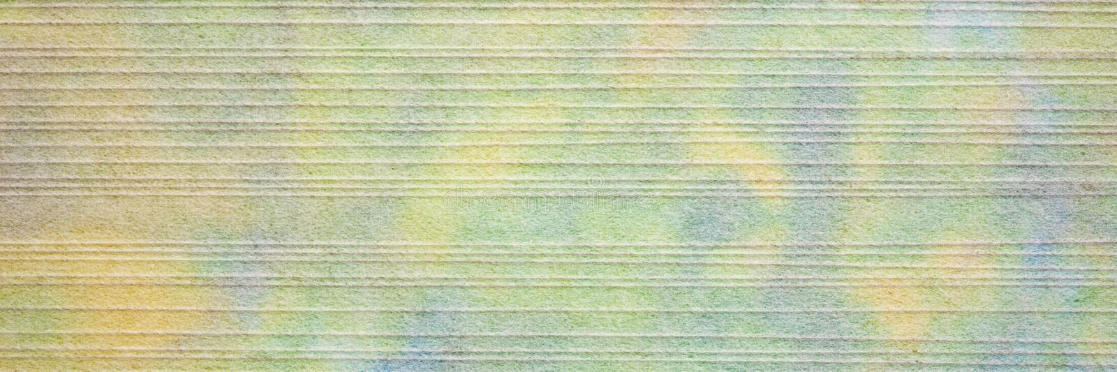 Paper texture with linear pattern. Japanese tissue with white linear pattern against marbled mulberry paper, panoramic banner stock photography