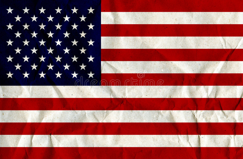 Paper Textured US-Flag stock images