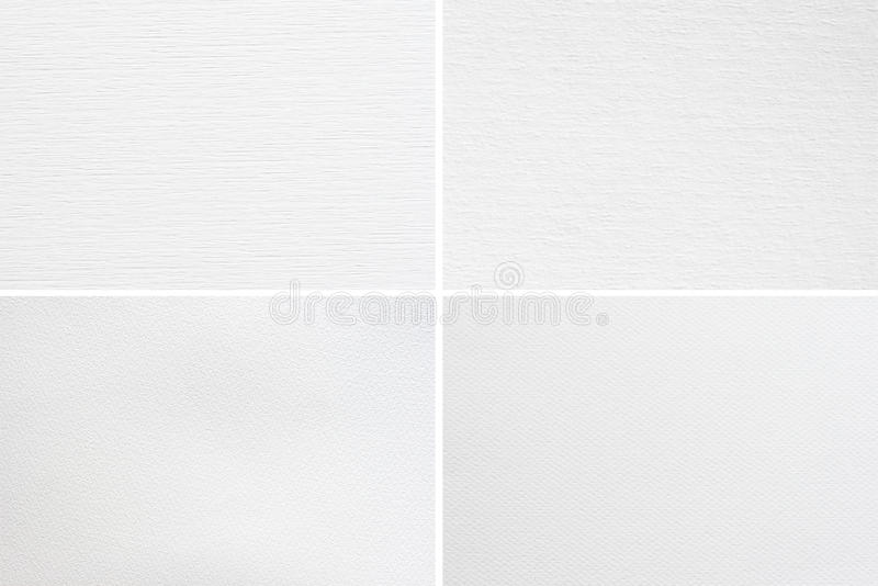 Paper textures. Blank watercolor paper textures set royalty free stock photos