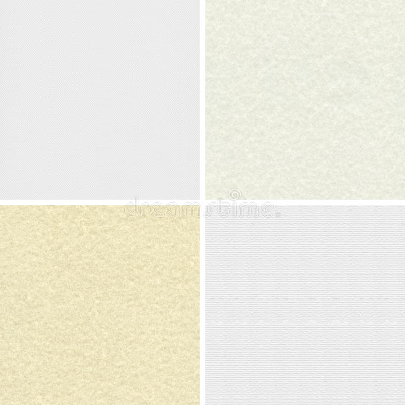 Paper textures. Blank paper textures for design stock photo