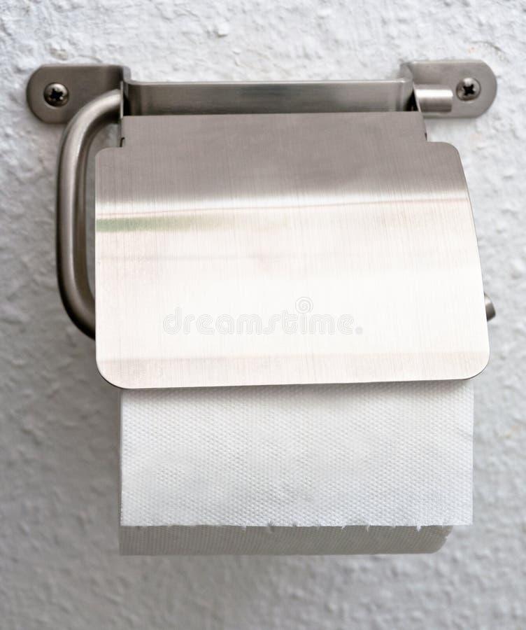 paper toalett för hållare arkivfoton
