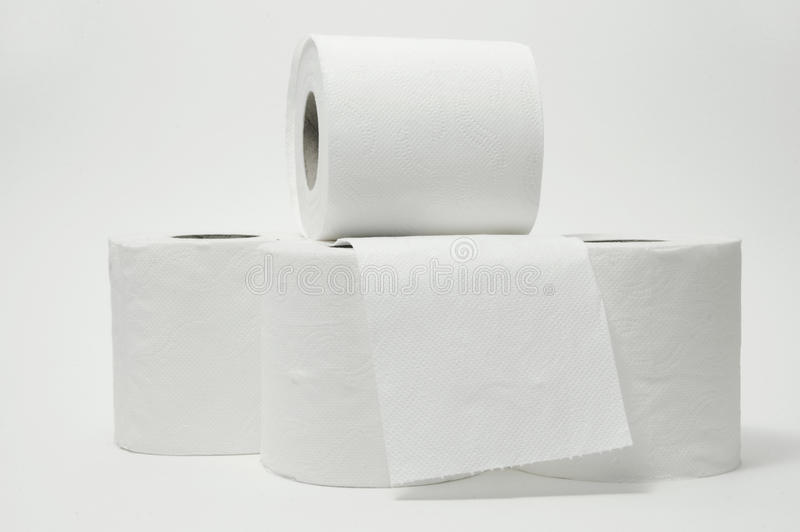 paper toaletten royaltyfri foto