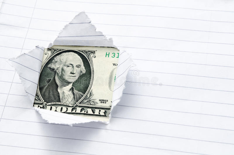 Download Paper Torn With Window Opening Showing US Dollar Stock Photo - Image: 12147330