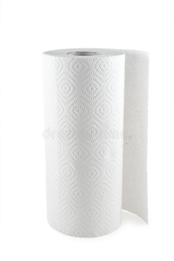 Paper towel. The paper towel isolated on white background royalty free stock photography