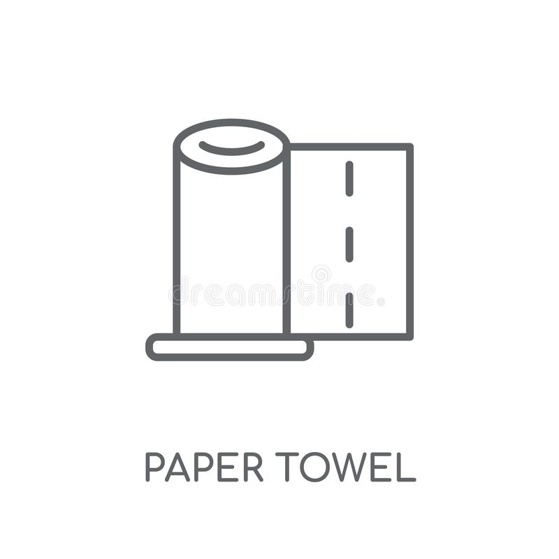 paper towel linear icon. Modern outline paper towel logo concept royalty free illustration