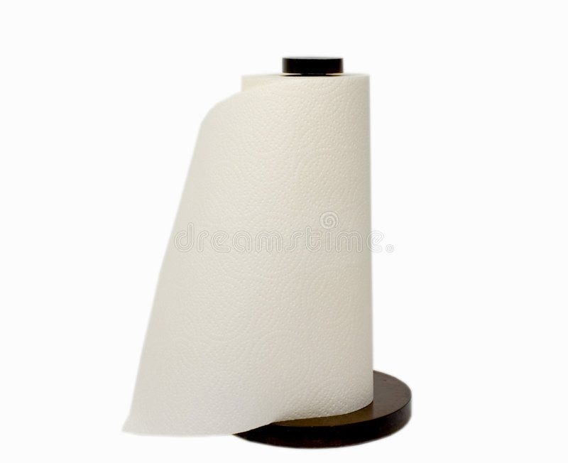 Paper towels on roll royalty free stock photography