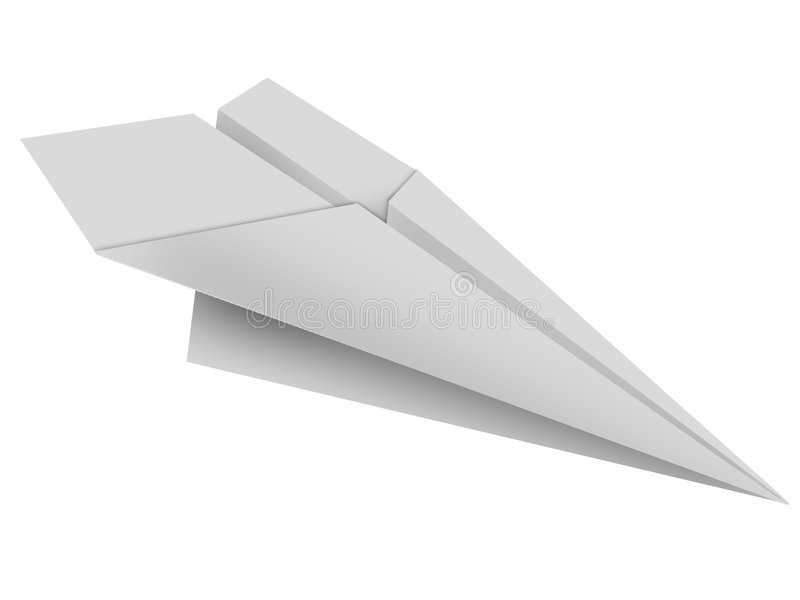 Paper toy plane vector illustration