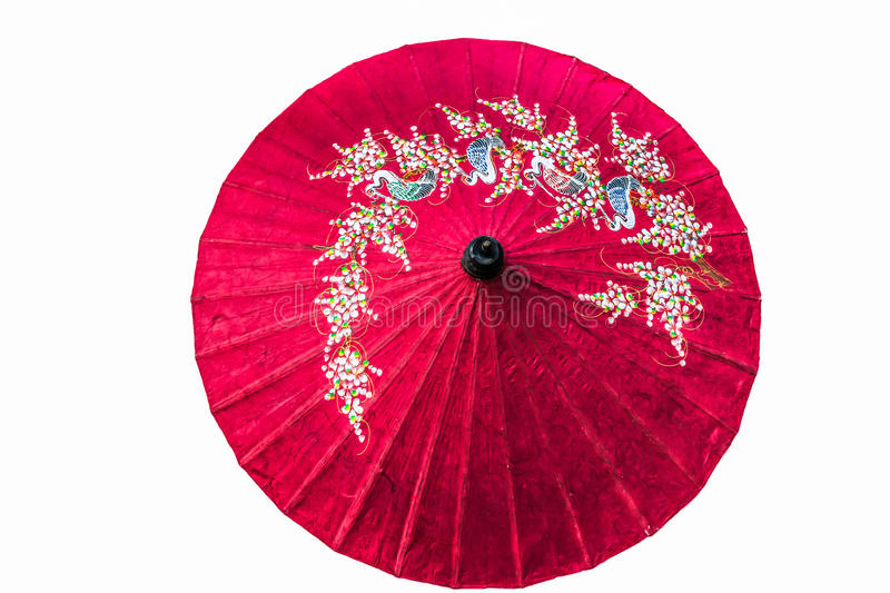 Paper umbrella isolated royalty free stock photos
