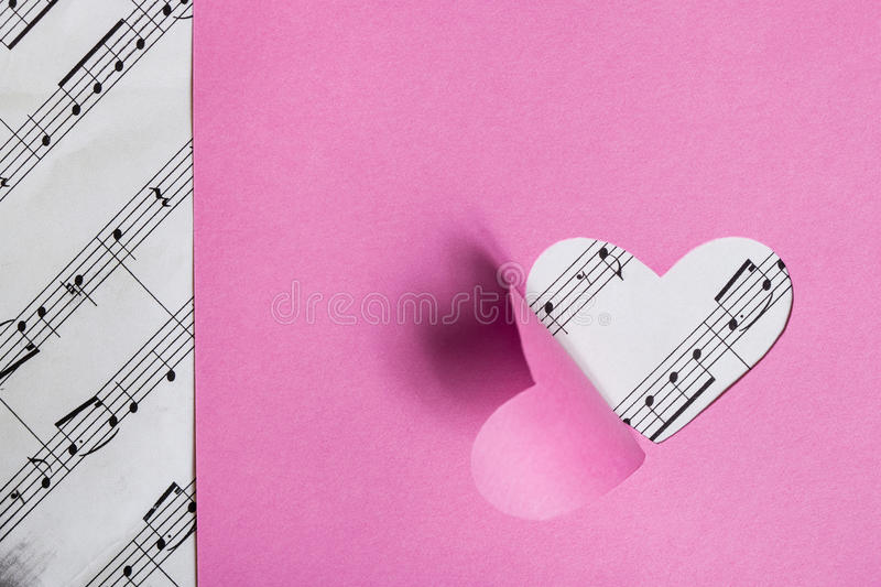 Download Paper Valentine card stock photo. Image of concept, musical - 27982642