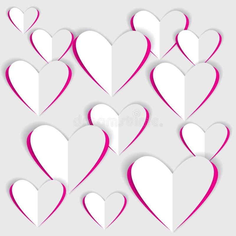 Paper Valentine hearts stock illustration. Illustration of holidays ...
