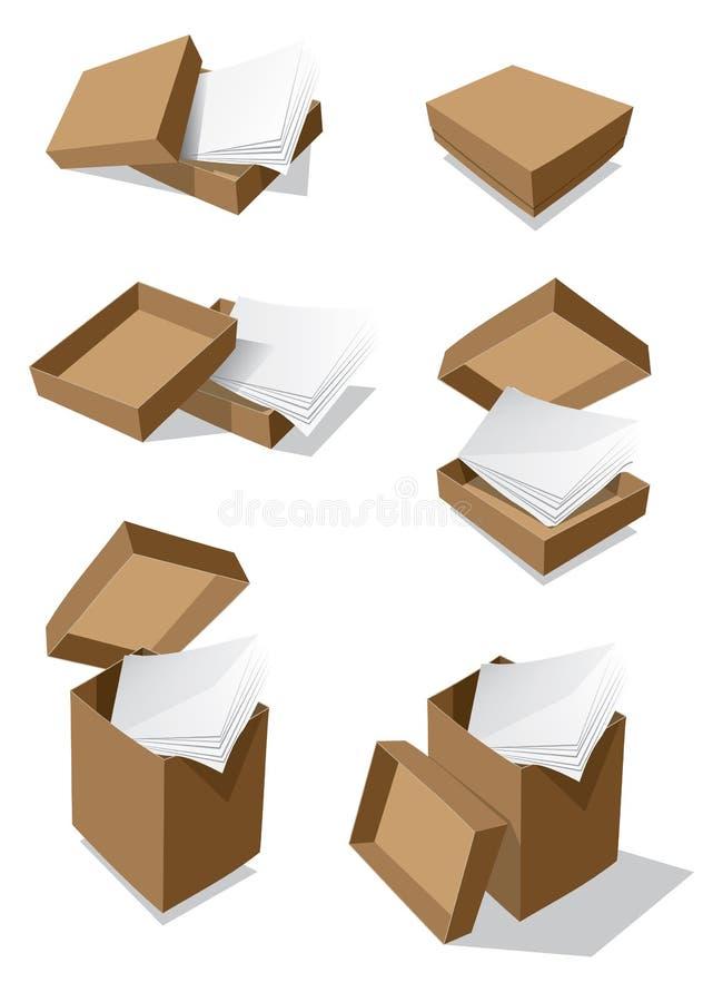 paper vektor för askar arkivbild