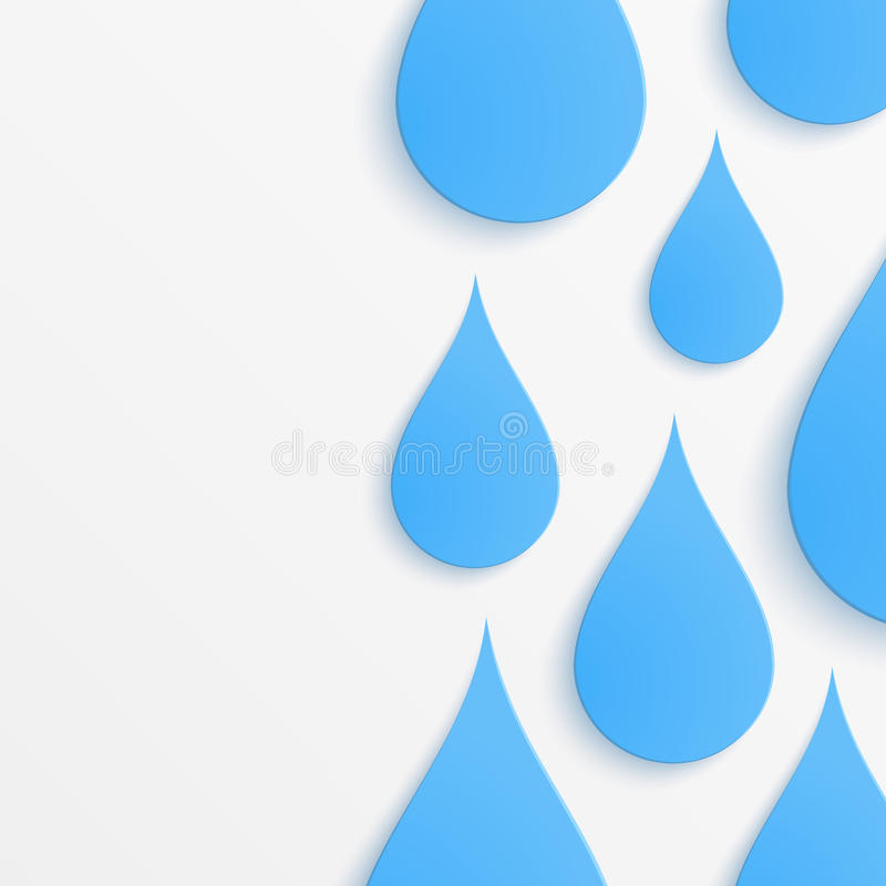 Paper water drop abstract background vector illustration