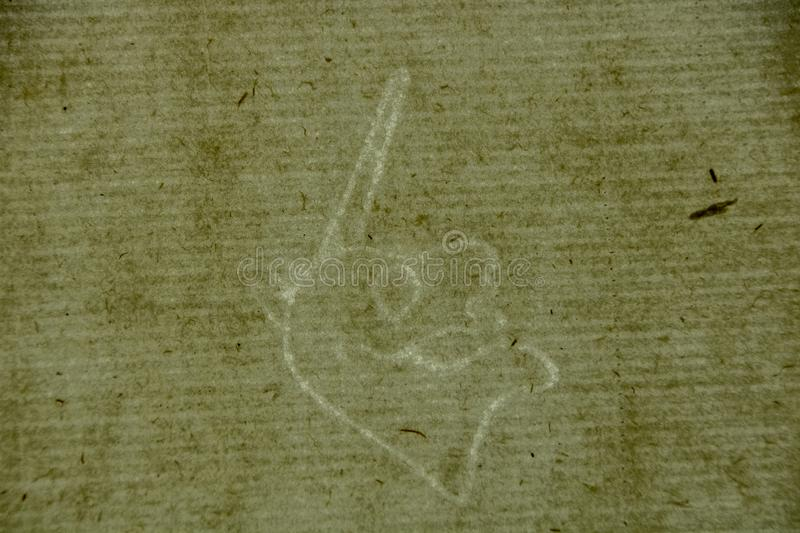 Paper and Watermark Museum. Fabriano - Italy - On april 2019 - watermark in form of an unicorn in the Paper and Watermark Museum stock photo