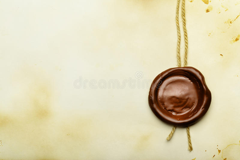 Download Paper with wax seal stock photo. Image of mandate, diploma - 13397912