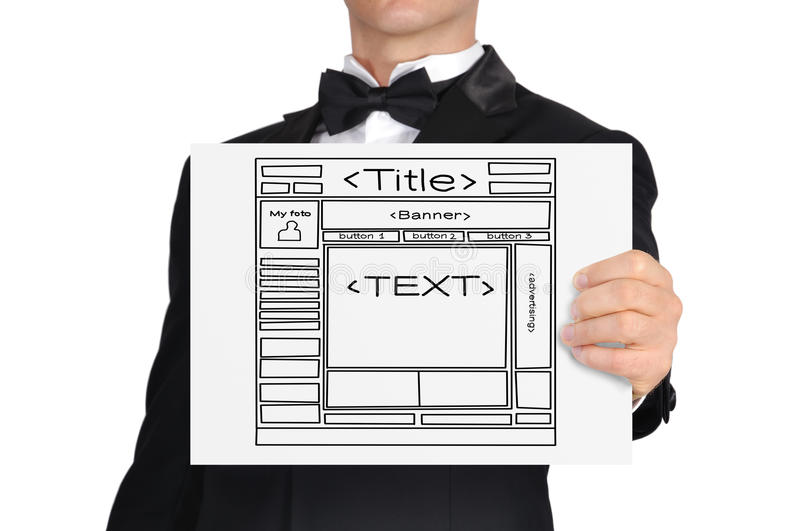 Download Paper With Web Site Royalty Free Stock Images - Image: 33456319