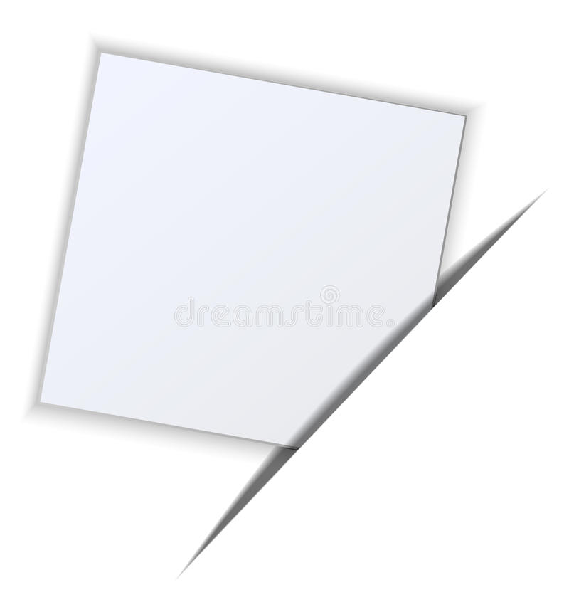Paper on a white background. eps10 royalty free illustration