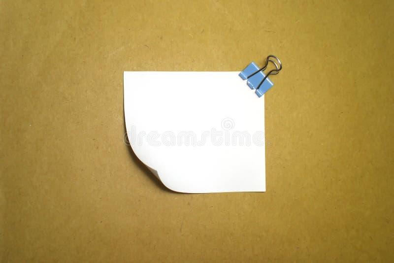 paper white för memo royaltyfria bilder