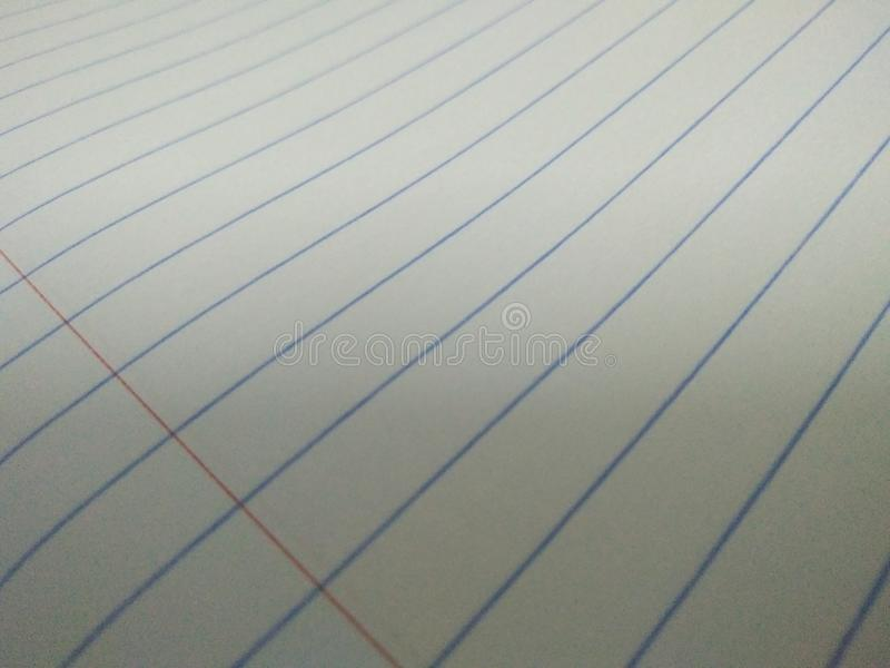 Paper white have line. Beaut use learn study room stock photography