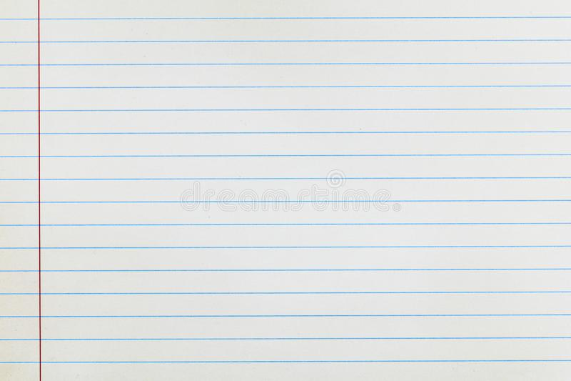 Paper white lined vertical background. Paper white lined vertical school background copy space education design stationery school royalty free stock image