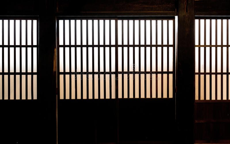 Download Paper Window Of Old Japanese Samurai House Stock Photos - Image: 26372733