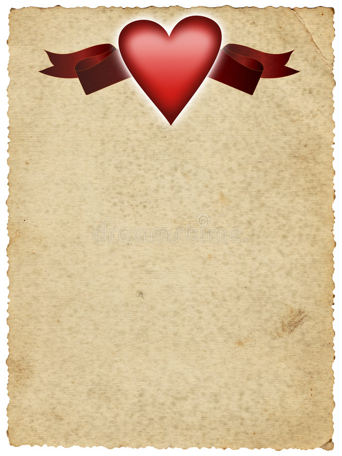 Free Paper With Heart And Banner Royalty Free Stock Image - 4577506