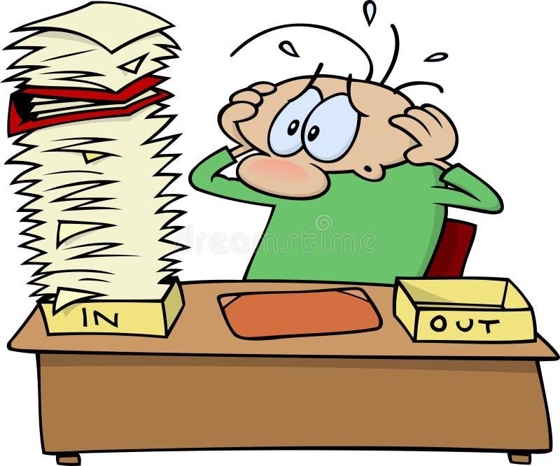 Download Paper work stock vector. Image of stress, worries, pile - 7946320