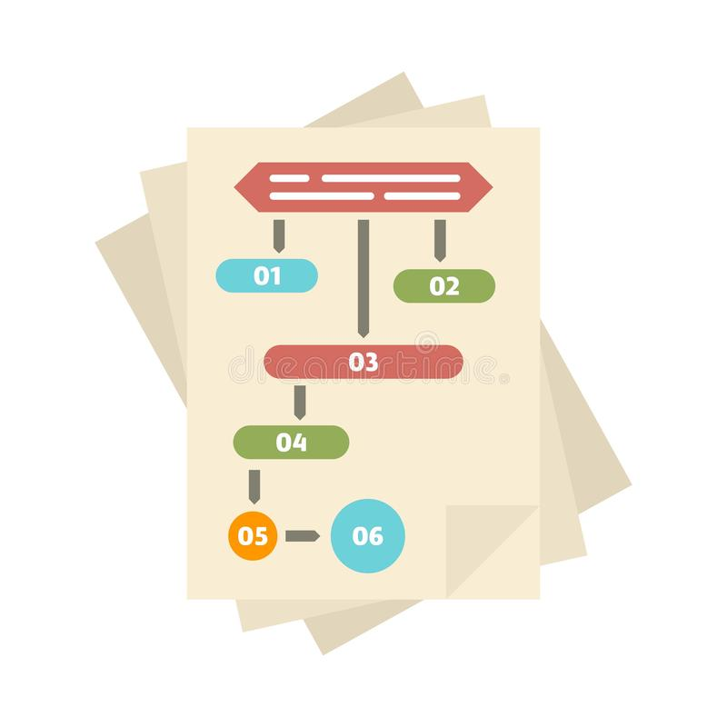 Paper workflow icon, flat style. Paper workflow icon. Flat illustration of paper workflow vector icon for web design royalty free illustration