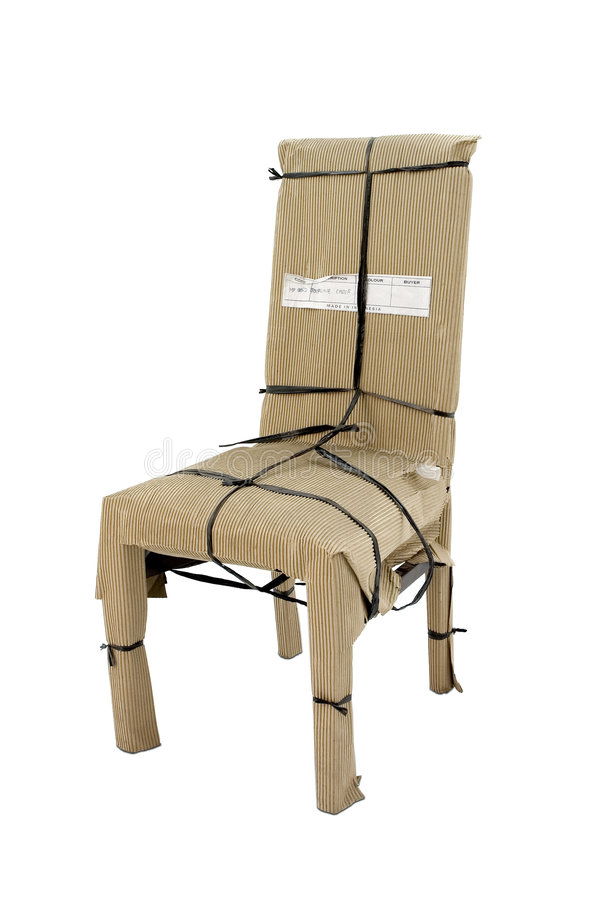 Paper wrapped chair royalty free stock image