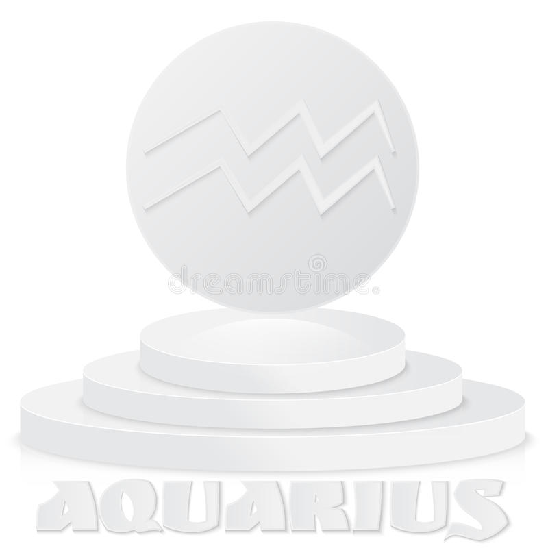 Paper Zodiac sign. Aquarius - Astrological and Horoscope symbol stock illustration