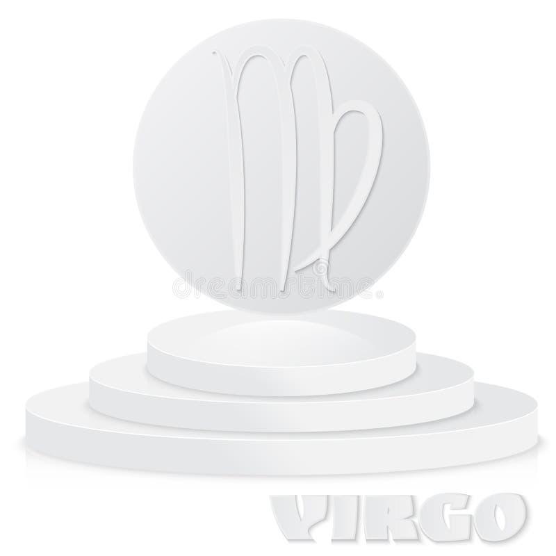 Paper Zodiac sign. Virgo - Astrological and Horoscope symbol on stock illustration