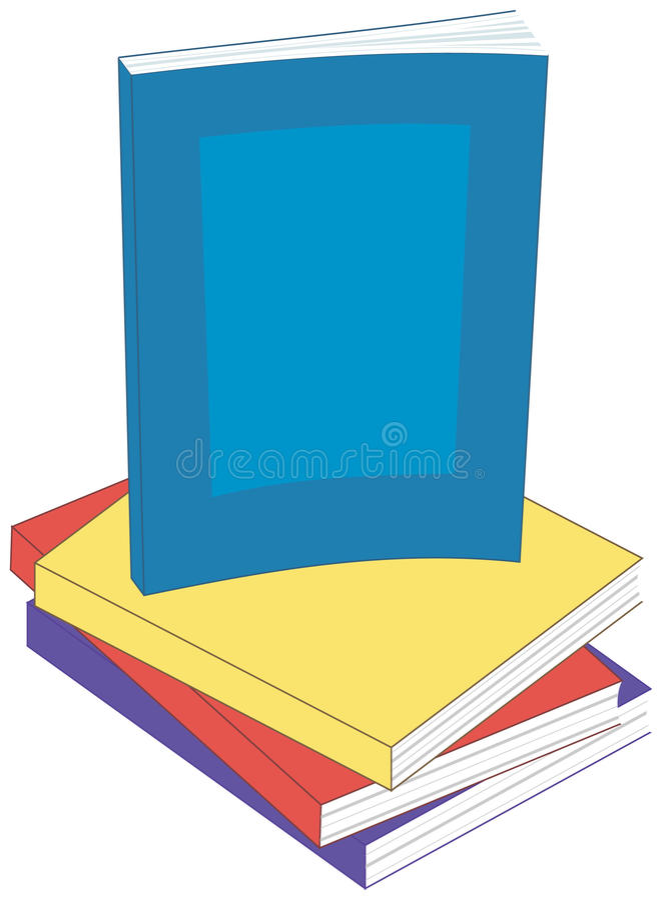 Paperback Books vector illustration