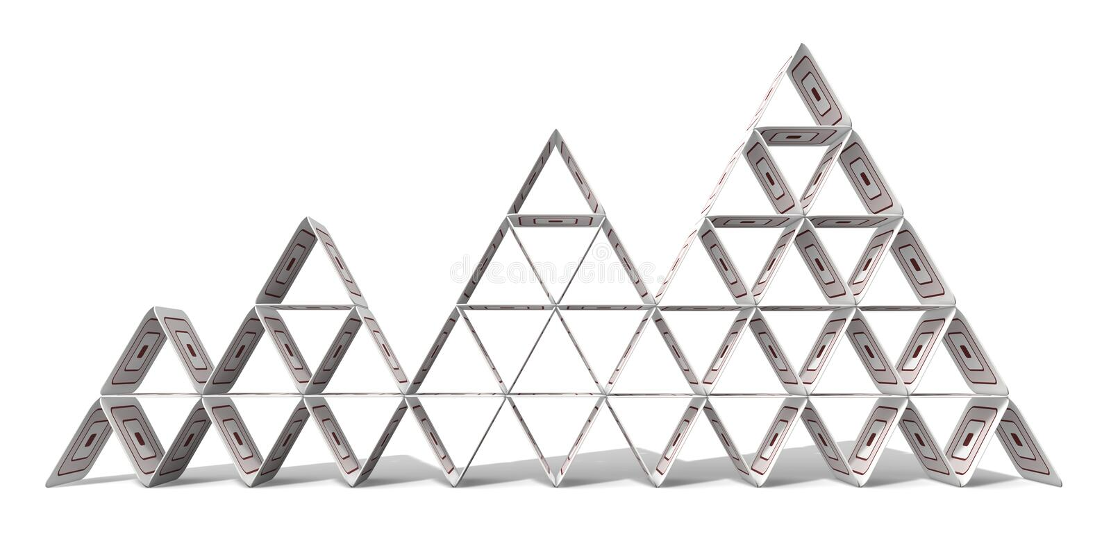 Paperboard Pyramid royalty free stock photography