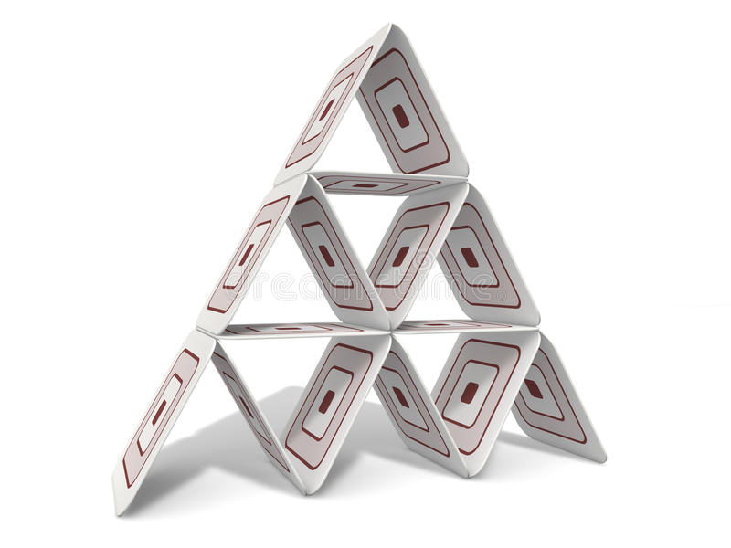Paperboard Pyramid royalty free stock images