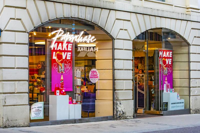 Paperchase shop selling cards and stationary royalty free stock photos