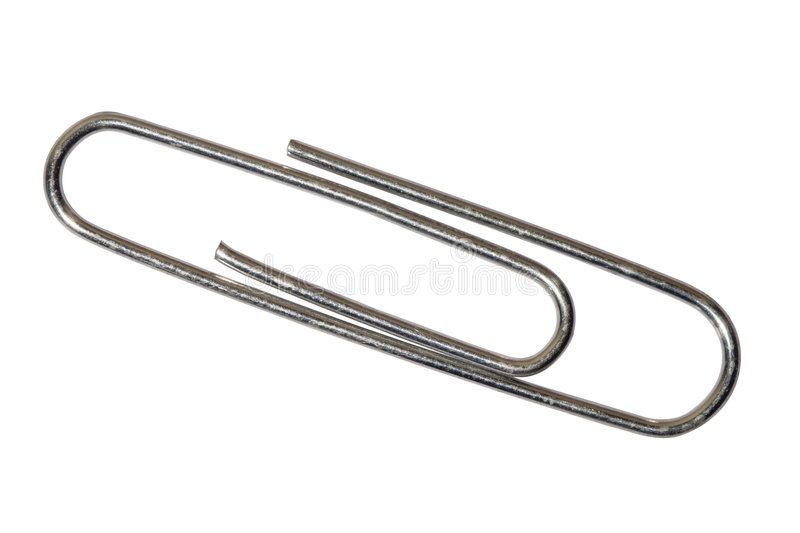 Paperclip. A paperclip isolated on white. Includes clipping path stock photography