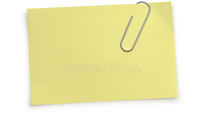 Paperclip & Memorandum stock foto
