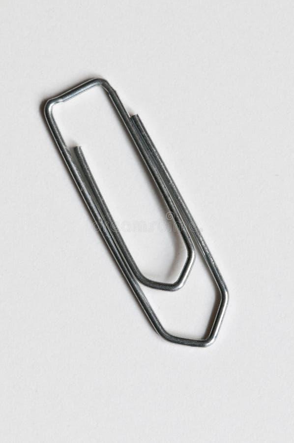 Paperclip de prata foto de stock