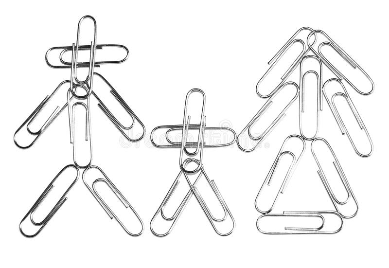 Download Paperclip family stock photo. Image of notepad, father - 41067626