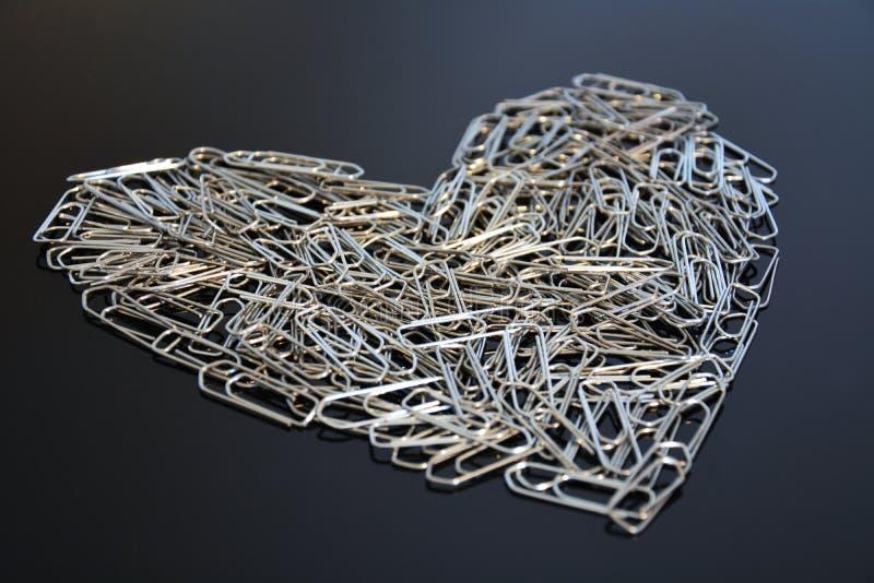 Paperclip heart stock photos