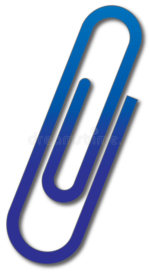 Paperclip icon stock illustration