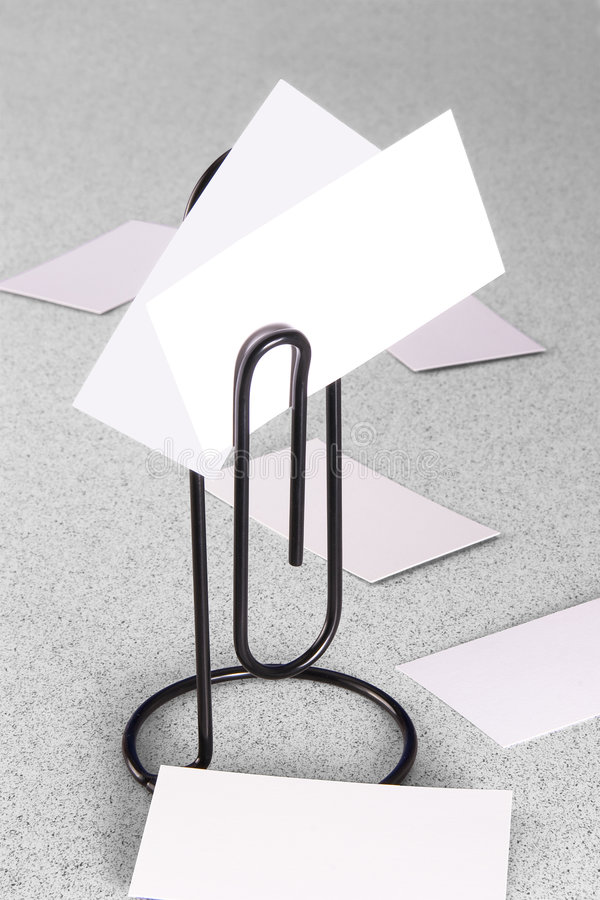 Download Paperclip Message Holder And Cards Royalty Free Stock Images - Image: 3866789