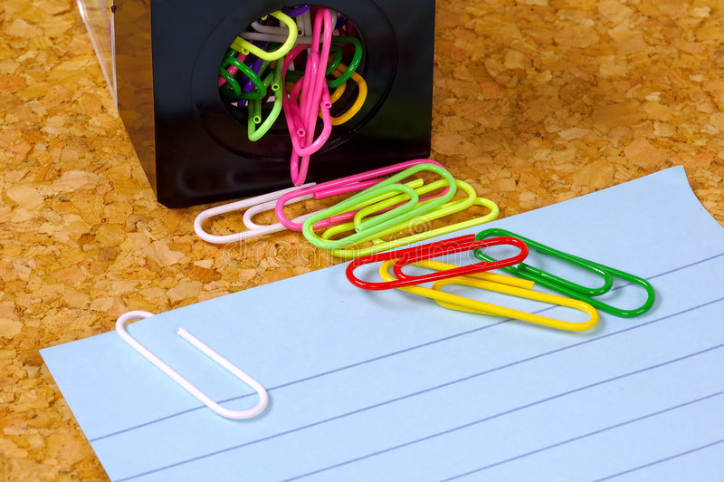Paperclips imagem de stock royalty free
