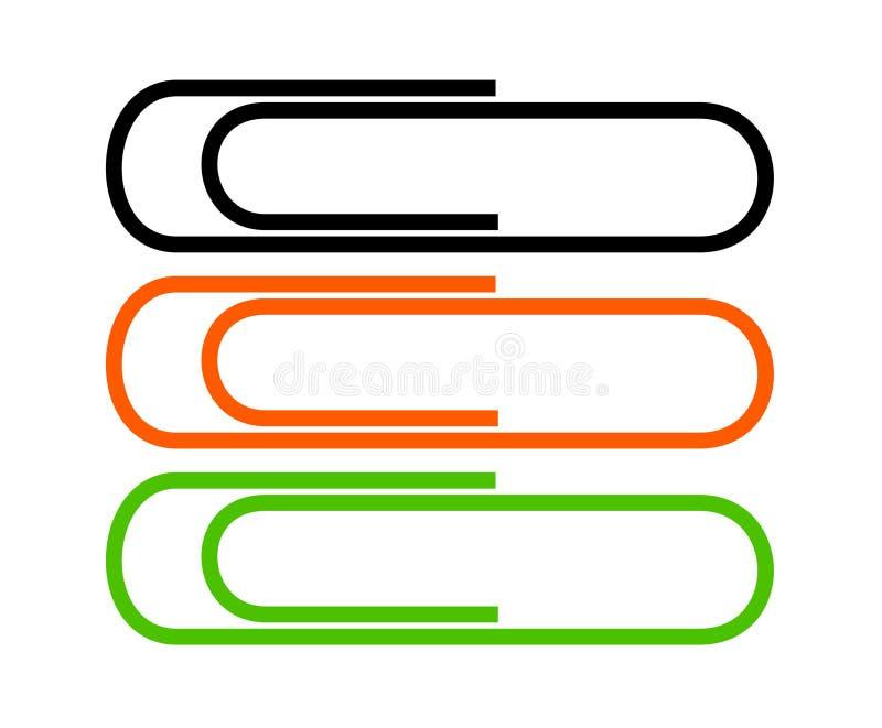 Paperclips vector illustratie