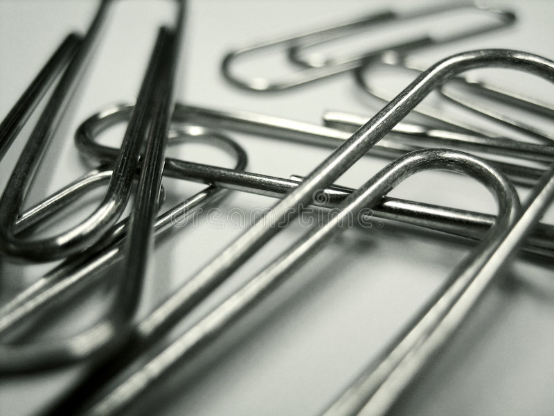 Paperclips stock photography