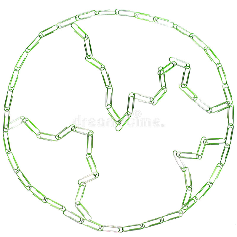 paperclips ziemi zdjęcia royalty free