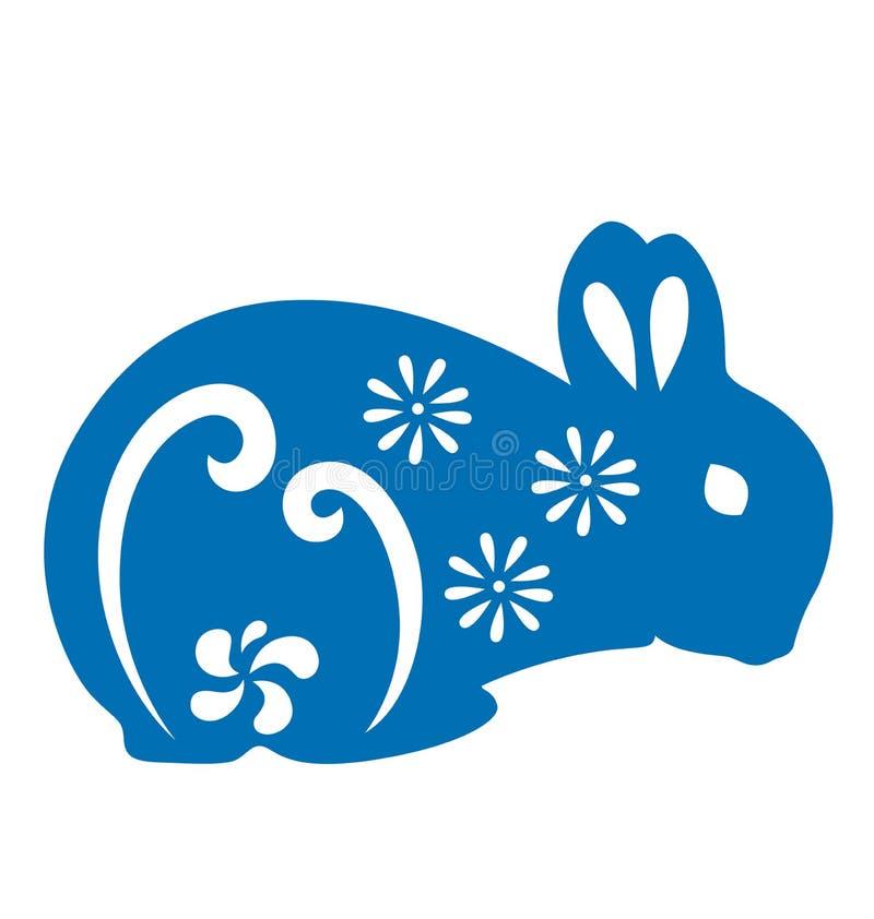 papercut兔子 库存例证