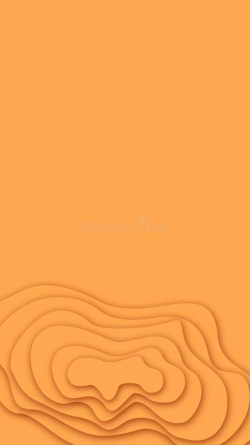 Papercut dénomme des textures pour le fond et le papier peint illustration libre de droits