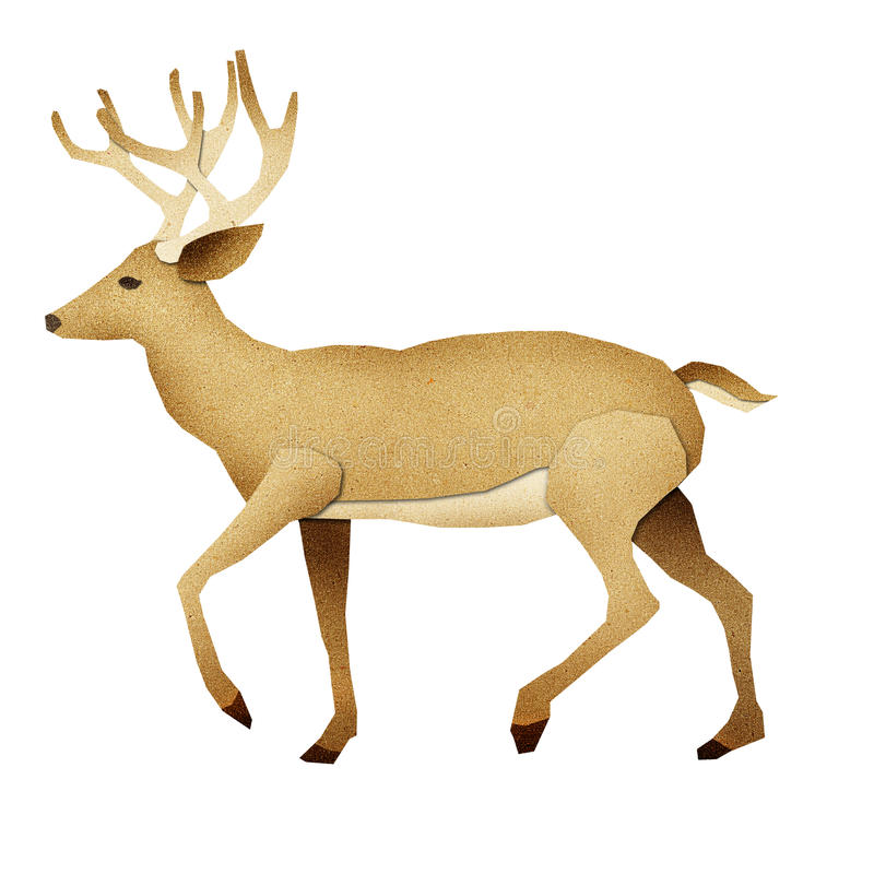 Papercut Deer Recycled Paper royalty free illustration